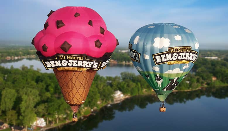 Ben & Jerry's Hot Air Balloon