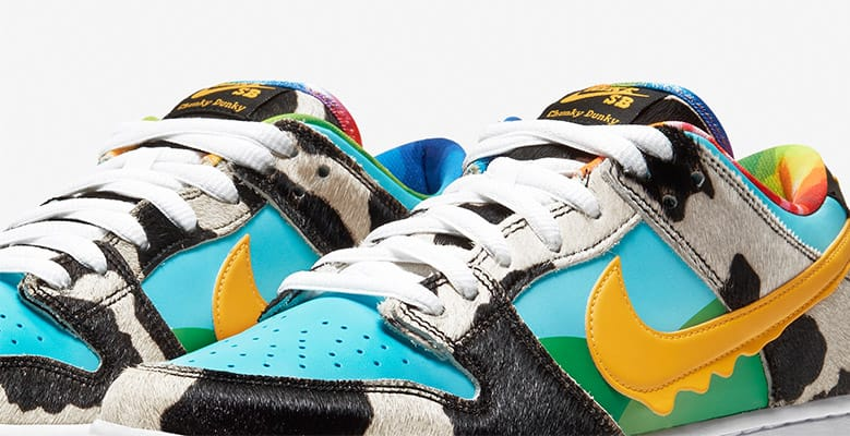 Front view of the Nike Chunky Dunky shoes